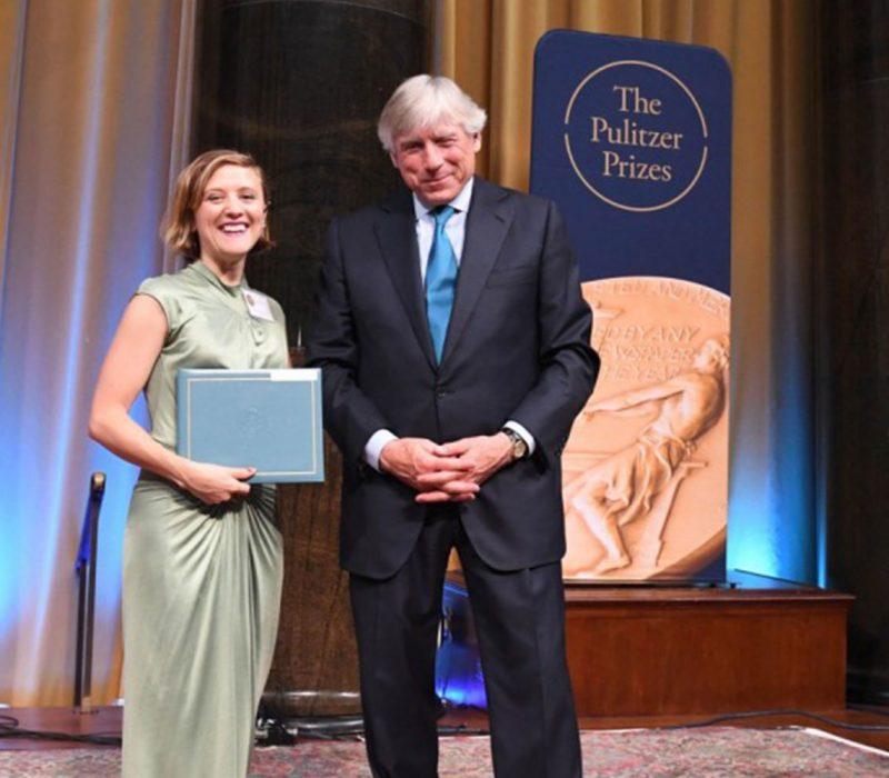 Ellen Reid receiving Pulitzer Prize for Music
