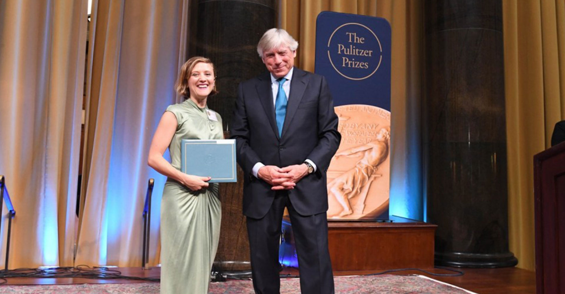 Ellen Reid receiving Pulitzer Prize for Music