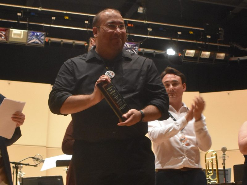 Victor Chavez Receiving Award at ClarinetFest