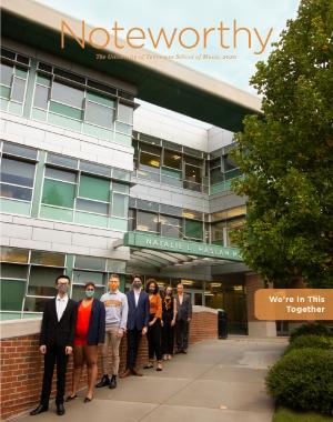 Noteworthy Magazine cover - SOM students